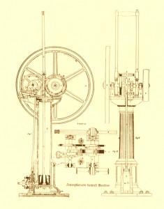 Схемата на Ото за неговия четиритактов двигател