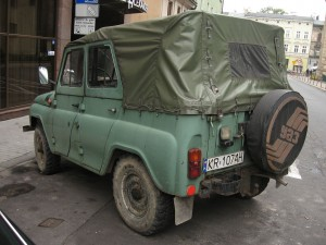 UAZ-469_on_Garbarska_street_in_Kraków_(3)