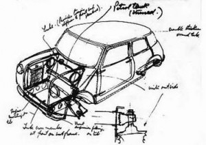 16.Alec_Issigonis_Mini_car_prototype_sketch
