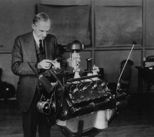 11.Henry-Ford-with-V8-Engine