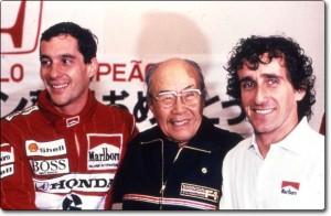 С Айертън Сена и Ален Прост, когато двамата са шампиони в МакКларън Хонда