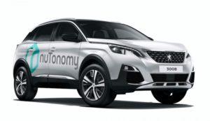 Nutonomy self-driving прототип на основата на Peugeot-3008
