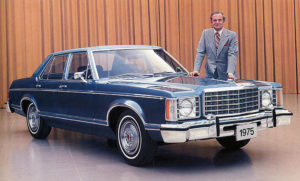 С 1975 Ford Granada Ghia Sedan