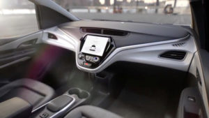 GM's planned Cruise AV driverless car features no steering wheel or pedals in a still image from video released January 12, 2018. General Motors/Handout via REUTERS. ATTENTION EDITORS - THIS IMAGE WAS PROVIDED BY A THIRD PARTY. NO SALES, NO ARCHIVES.