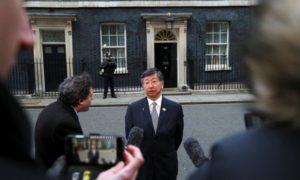 Посланик Цуруоака говори за заплахата на Брексит пред  Даунинг стрийт10