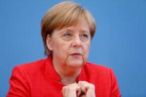 Меркел на  годишната лятна пресконференция в Берлин, Германия, 20 юли 2018 г. Reuters