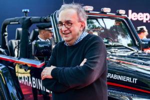 """На последното си публично явяване, на 26 юни, Маркионе, изглеждаше уморен на церемония в Рим, представяща един Jeep за италианската паравоенна полиция – """"Карабинерите""""."""