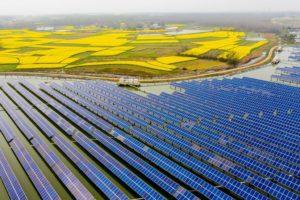 HEFEI, CHINA - тези соларни инсталации в китайската провинция, на площ от 160 хектара, са генерирали през 2018 г. 110 млн kWh електричество...