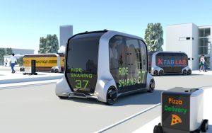 Концепция за електрическа мобилност на Toyota e-Palette със самостоятелно управление