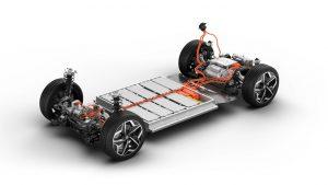 Платформа с батерия на Jaguar i-Pace