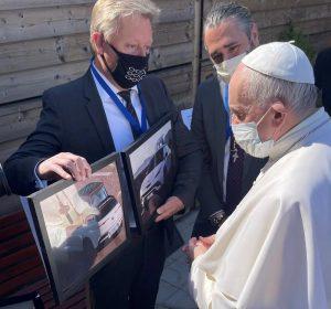Хенрик Фискер и папа Франциск