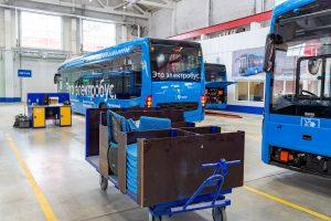 Завод SVAZ в Москва за производство на електрически автобуси