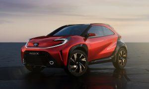 Toyota AYGO CROSS. Концепцията Aygo X намекна за SUV дизайн за новия миникар на Toyota, с по-елегантен външен вид и по-висок пътен просвет от сегашния Aygo.